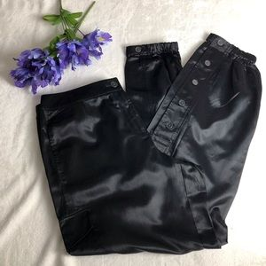 Chico's Silk / Cotton Cargo Style Jogger Pants